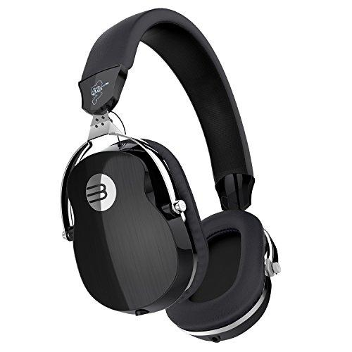 BYZ Over-ear Music Headset HiFi Stereo Headphones Clear Bass Foldable Headphones with Microphone Black