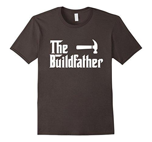 Mens The Build Father Funny Builder Constructor T Shirt Gift Large Asphalt
