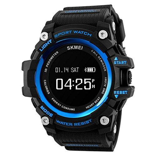 SKMEI 1188 Men Smart Watch Fashion Sport Watches Pedometer Remote Camera Man Clock Bluetooth Calorie Digital Wristwatches
