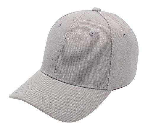 Baseball Cap for Men and Women by Top Level|Cool Sporting Hat with Adjustable Velcro Backclosure|Top Quality, LIGHT GREY