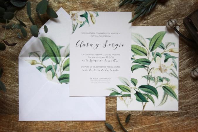 invitación boda nature altamarstudio