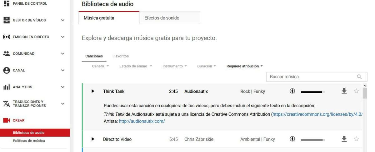 musica sin copyright con atribucion youtube