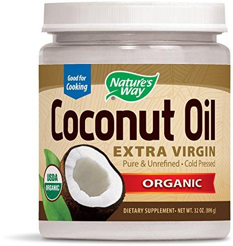 Natures Way Organic Extra Virgin Coconut Oil- Pure, Cold-pressed, Organic, Non-GMO, Gluten-free- 32 Ounce