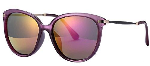 Womens Sunglasses UV Protection Polarized sunglasses for Women Goggles UV400 (Purple, As pictures)