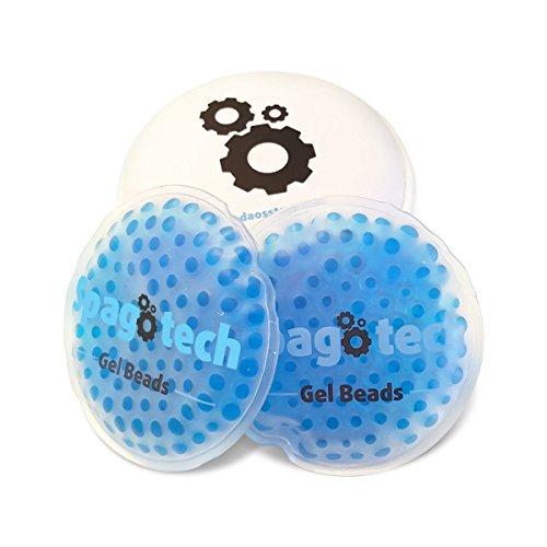 Gel Eye Mask Reusable Hot Cold Therapy Pack With Round Gel Beads And Carry Case By Spagotech (blue)