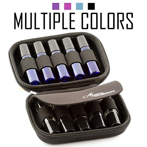 Essential Oil Carrying Case Premium Protection for Roller Bottles Hard Shell Case Protects up to 10 Rollon bottles - Perfect Travel Cases for Rollers