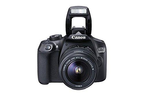 "Canon EOS 1300D - Cámara réflex de 18 Mp (pantalla de 3"", Full HD, 18-55 mm, f/3.5-5.6, NFC, WiFi), color negro - Kit con objetivo EF-S 18-55 mm DC III (versión europea)"