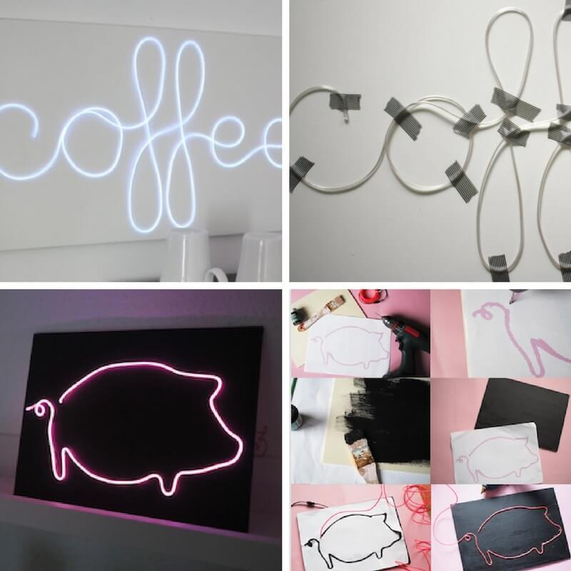 diseños diy con neon flexible