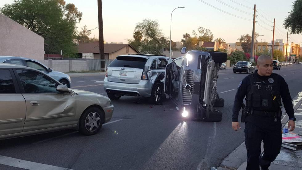 Accidence coche Uber Arizona