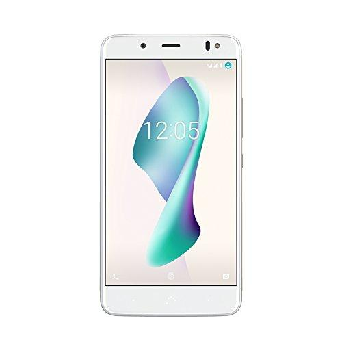 "BQ Aquaris VS Plus - Smartphone de 5.5"" (4G, Wifi, Bluetooth 4.2, Qualcomm Snapdragon 430 hasta 1.5 GHz, 64 GB de memoria interna, 4 GB de RAM, cámara de 12 MP, Android 7.1.2) blanco y oro"