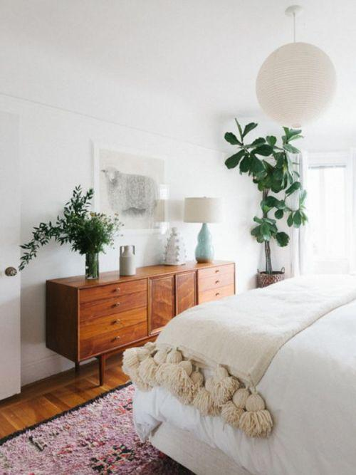 decoración nórdica con plantas