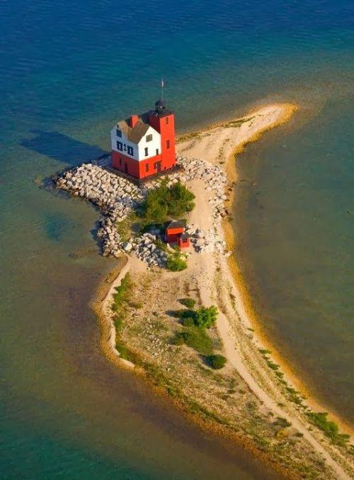 Round Island Lighthouse, Mackinaw Island, Michigan, Islas para visitar en Estados Unidos