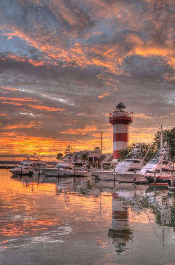 Harbour Town Lighthouse on Hilton Head Island, SC, Islas para visitar en Estados Unidos
