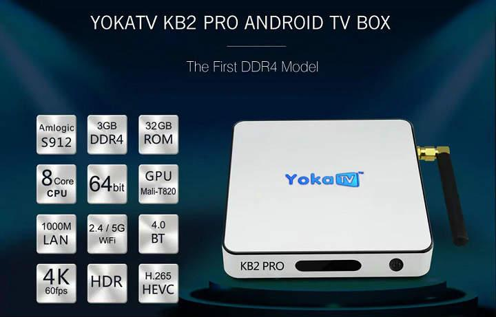 YOKATV KB2 PRO Android TV Box rooteada con 3GB RAM DDR4 32Gb de espacio CPU Amlogic S912 analisis reseña review especificaciones y opinion