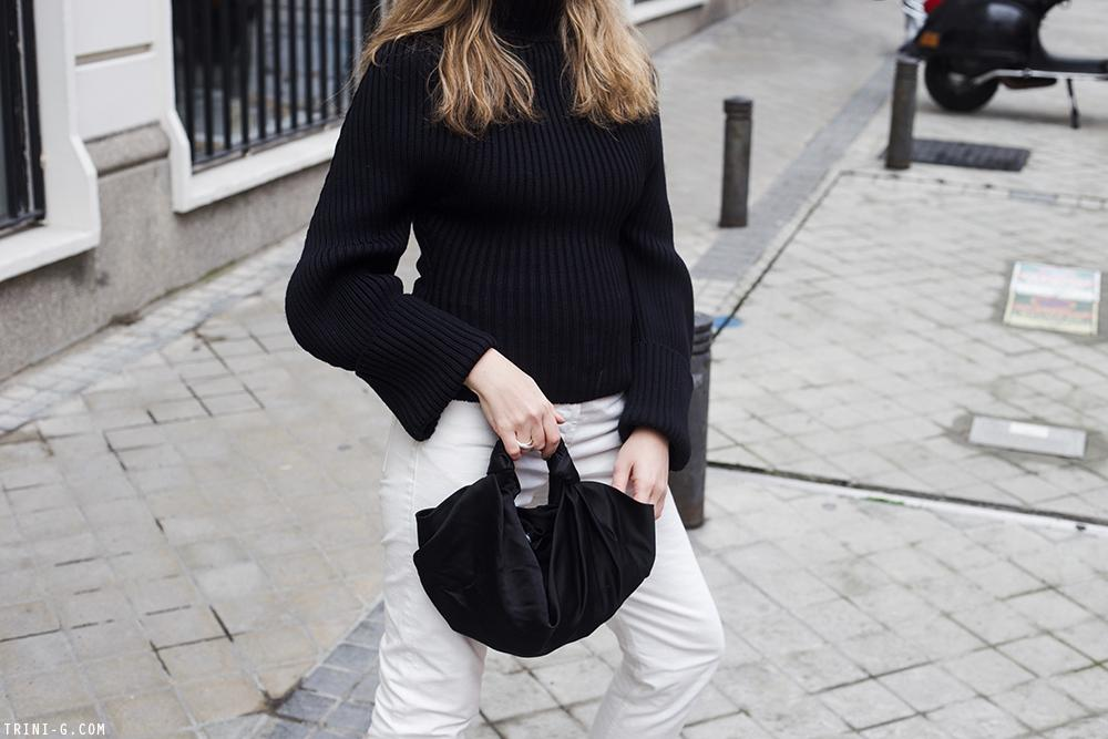Trini | Jacquemus sweater The Row Ashland jeans