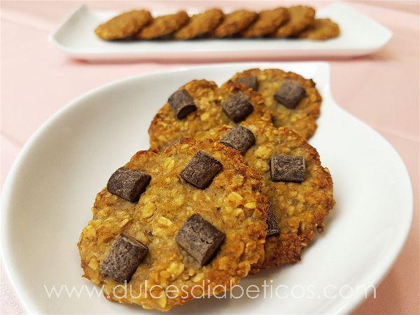 Galletas de avena con platano y chocolate - w-opt