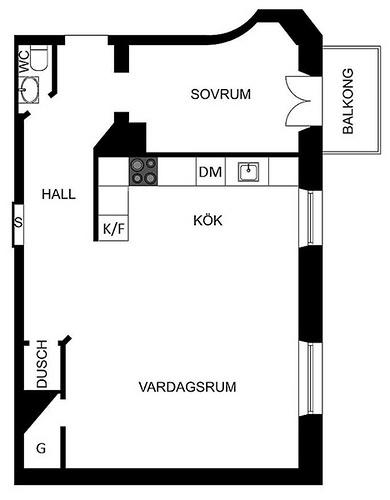 13 map of the Swedish apartment