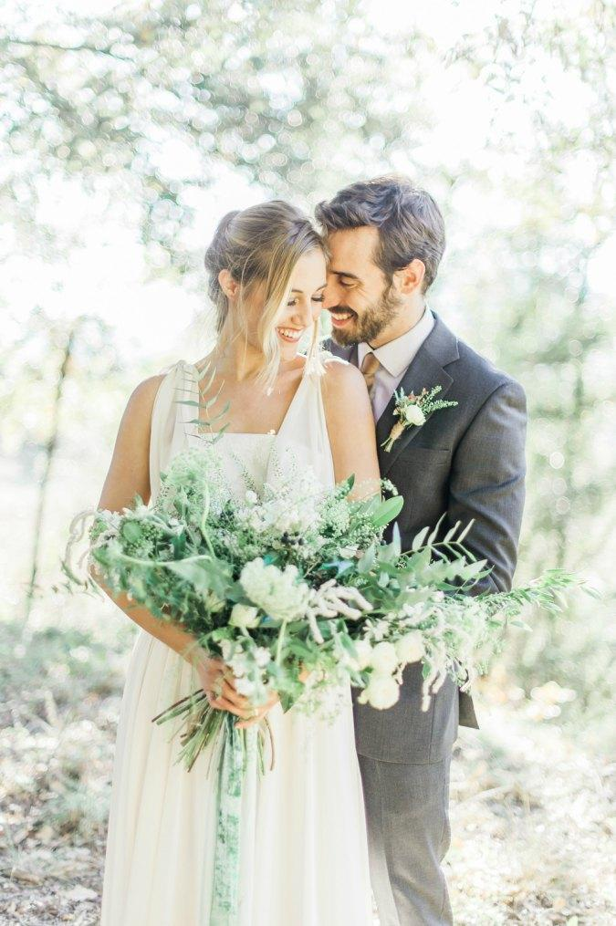 organic greenery elopement