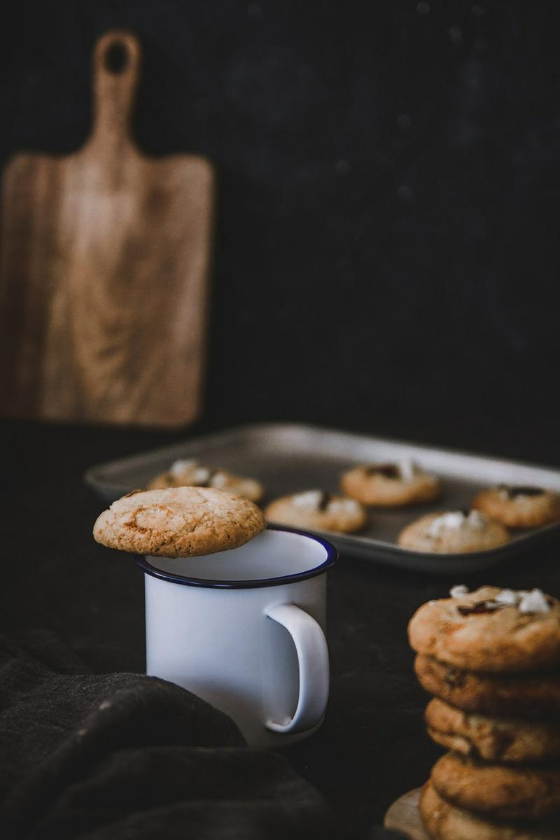 cookies de chocolate blanco y arandanos