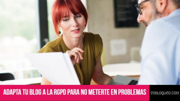 Adapta tu blog a la RGPD para dummies