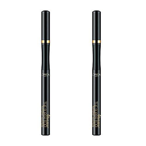 LOreal Paris The Super Slim Eyeliner by Infallible, Black, 0.034 oz., Negro