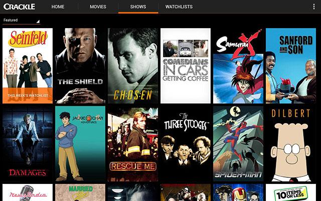 Apps para ver películas Crackle