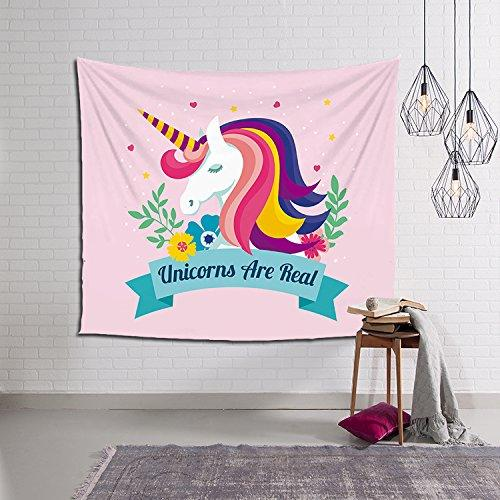 HONTOD Unicorn Tapestry Wall Hanging Wall Art Tapestry For Home Decor/Birthday Party Decor
