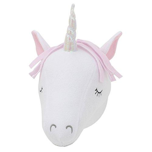Little Love by NoJo Plush Head Nursery Wall Decor, Unicorn, White, Pink, Purple