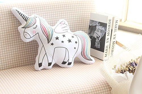 "DPIST 16"" Unicorn Emoji Throw Pillow Stuffed Animals Courch Plush Toy,Home Decorations and Unicorn Party Supplies, Perfect Unicorn Gifts!"