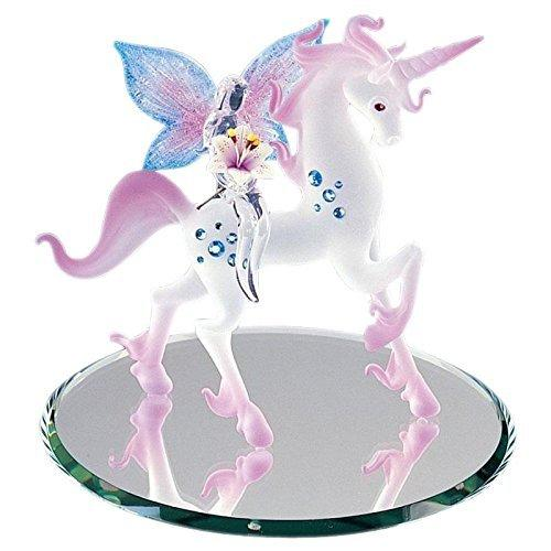 Unicorn with Fairy Glass Figurine