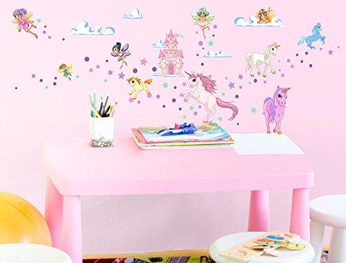 I-love-Wandtattoo WAS-10030 Wall stickers Kids Fairies and unicorns Sticker Wall Decal Boy Girl