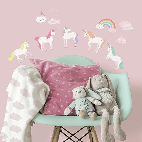 RoomMates RMK3628SCS Unicorn Magic Peel and Stick Wall Decals