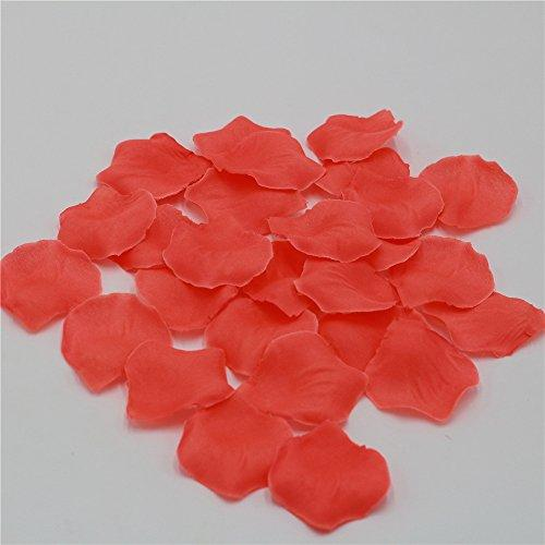FANFLONA 1000 Coral Rose Petals Artificial Flower Petals For Wedding Party Aisle Decor
