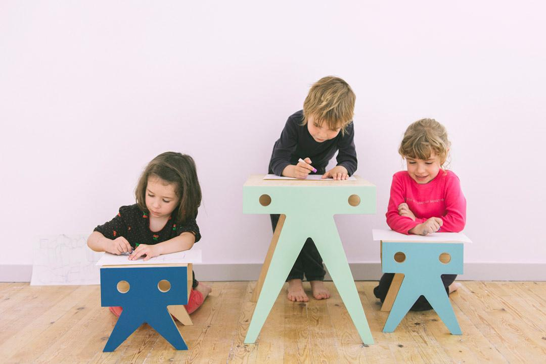 Ideas para dormitorios infantiles: nimio-the-warus-family-stool-taburete-toc-toc-kids