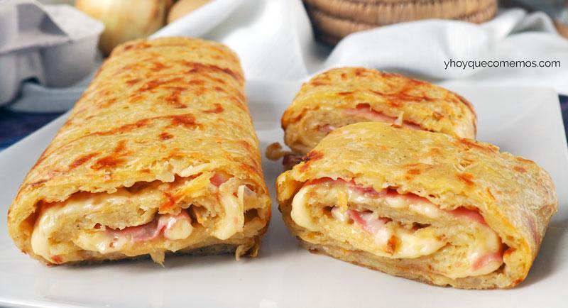 Rollos de jamón y queso ¡Ideales para cenar!