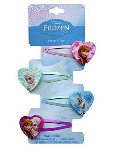 Disney Frozen Hair Clips Snap Clips Barrets set of 4