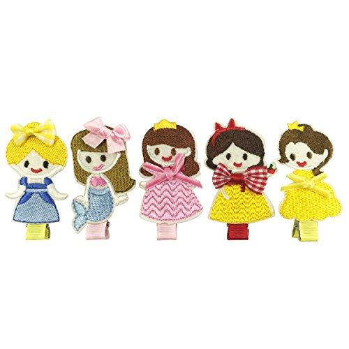 Wrapables Dress Up Fantasy Princess Hair Clips (5 Set)