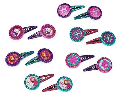 "Disney Frozen Hair Clip Birthday Party Favour Accessory and Prize Giveaway (12 Pack), Multi Color, 1"" x 2""."