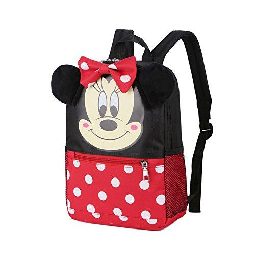 YOURNELO Childrens Cartoon Big Ears Mickey Mouse Backpack Kids Cute Kindergarten Schoolbag (Minnie)