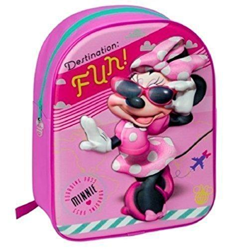 Disney Minnie Mouse 3D Girls Junior Backpack schoolbag