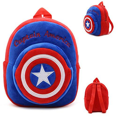 Backpack Schoolbag - Captain America Design Animal Cartoon Mini Backpack Schoolbag Shoulder Bag Suitable For Babies and Children - Perfect Birthday Gifts - For Kids (Captain America 1)
