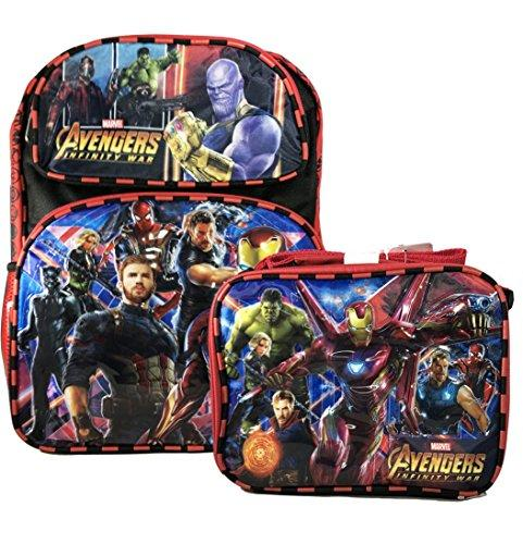 "Marvel Avengers Infinity War 16"" Embossed Backpack w/Matching Insulated Lunch Tote"