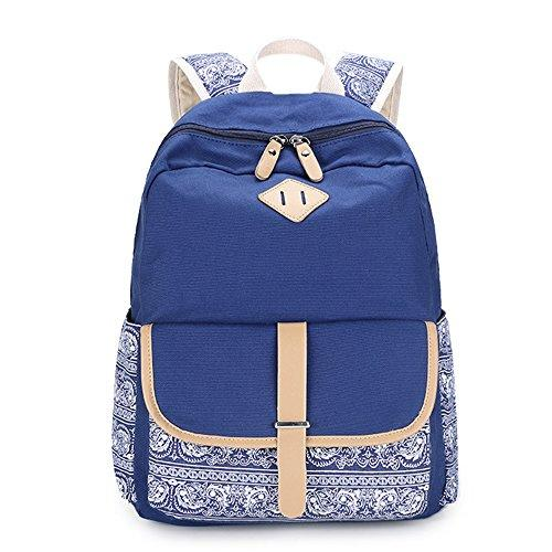 Casual Daypack Classic Laptop Backpack Bookbag(Royal Blue)