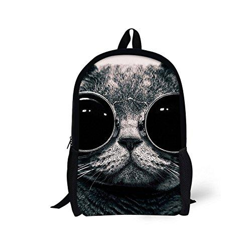 Bigcardesigns Fashion Cat Design Backpack Schoolbag Book Bag Teenagers Satchel