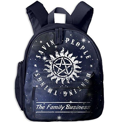 Supernatural Saving People Hunting Things Toddler Mini Backpack Shoulder Schoolbag With Front Pockets