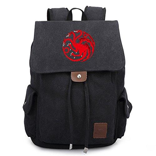 YOURNELO Unisex Game of Thrones A Song of Ice and Fire Backpack Schoolbag Bookbag Rucksack (A)