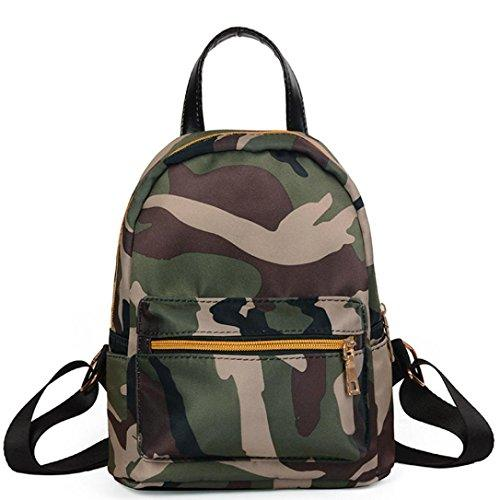 GBSELL Women Girl Fashion Camouflage Zipper Backpacks Schoolbags Travel Shoulder Bag (Camouflage)