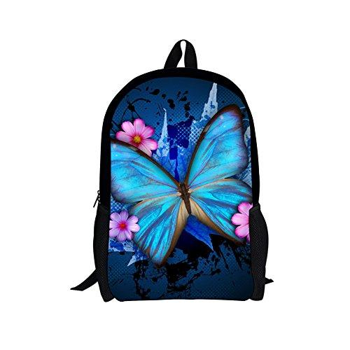 CHAQLIN Beauty Floral Butterfly Kids Schoolbag for Teenager Girls