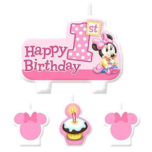 American Greetings Minnie Mouse 1st Birthday Candles (4 Count)