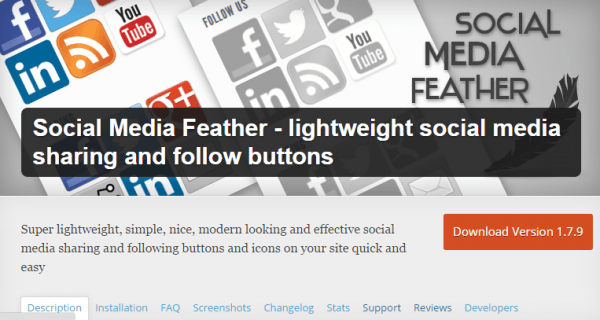 Mejores Plugins WordPress: Social Media Feather